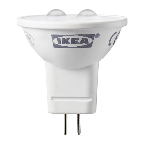Ledare lampadina led gu4 ikea for Lampadine led ikea