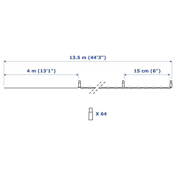 LEDLJUS Illuminazione a LED 64 luci, da esterno nero