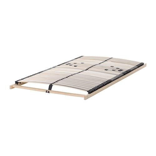 LEIRSUND Base a doghe IKEA 42 doghe in betulla si adattano al peso del tuo corpo, aumentando la flessibilità del materasso.