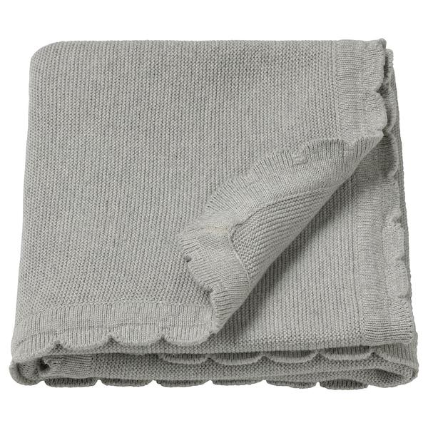 LEN Coperta, lavorato a maglia/grigio, 70x90 cm