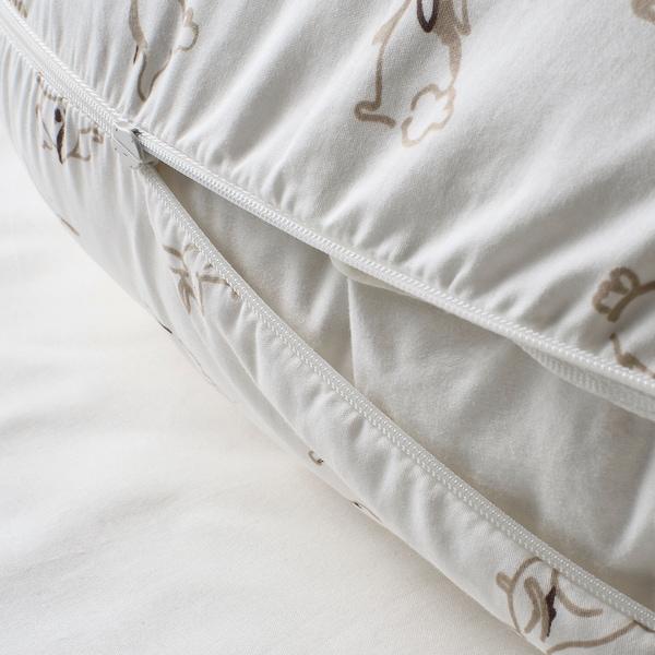 LEN Fodera per cuscino allattamento, coniglio/bianco, 60x50x18 cm