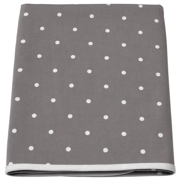 LEN Materassino per fasciatoio, a pois/grigio, 90x70 cm