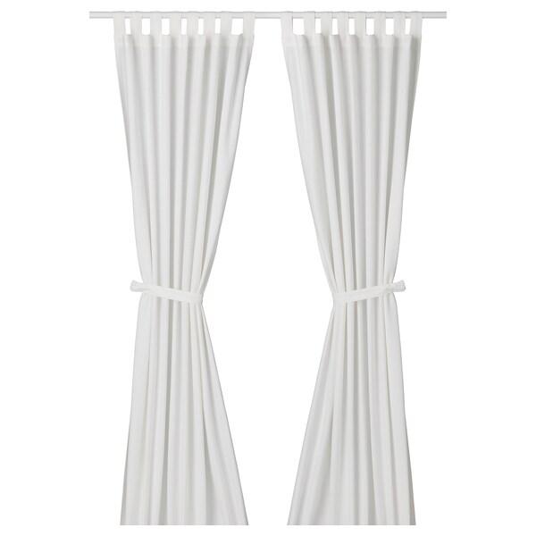 Lenda Tenda Con Bracciale 2 Teli Sbiancato Bianco 140x300 Cm Ikea
