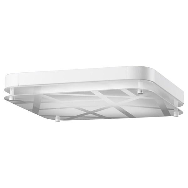 LEVANG plafoniera a LED quadrato/righe 3000 K 36 cm 36 cm 7 cm