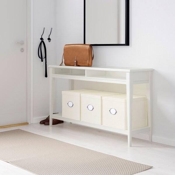 LIATORP Tavolo consolle - bianco, vetro - IKEA