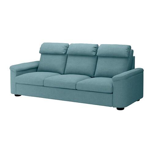 Lidhult divano a 3 posti gassebol blu grigio ikea for Divano ikea 3 posti