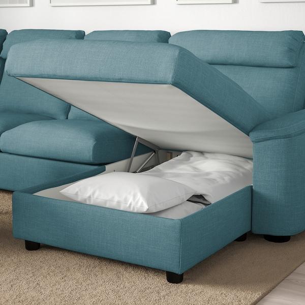 LIDHULT Divano angolare a 6 posti, con chaise-longue/Gassebol blu/grigio