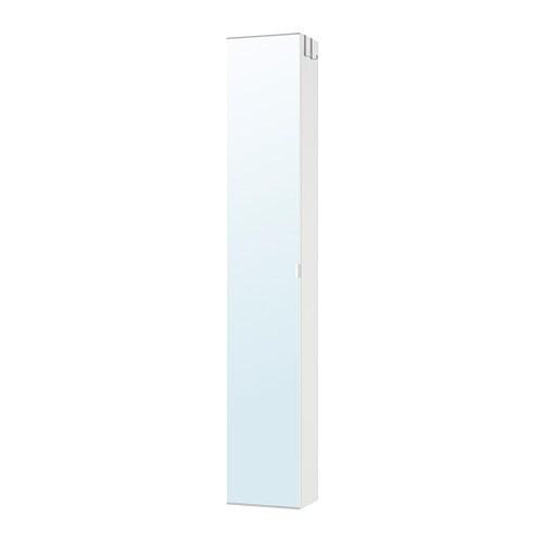 Armadio Con Specchio Ikea.Lillangen Mobile Alto Con Anta A Specchio Bianco Ikea