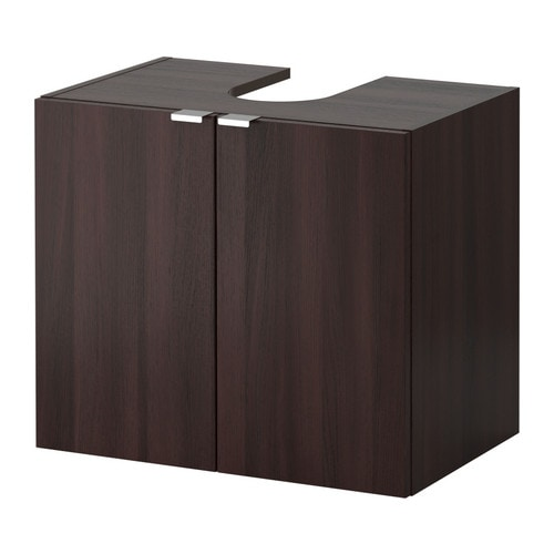 Lill ngen mobile base per lavabo con 2 ante marrone nero for Mobili 2 ante ikea