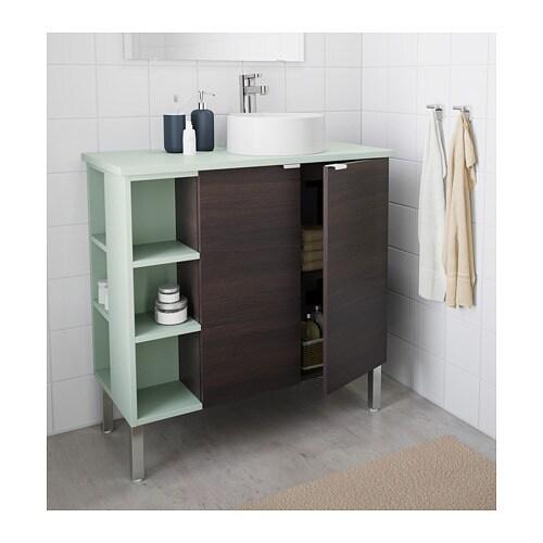 Lill ngen viskan gutviken mobile lavabo 2ante 2elementi term inox verde pallido 82x40x92 - Mobile lavabo ikea ...