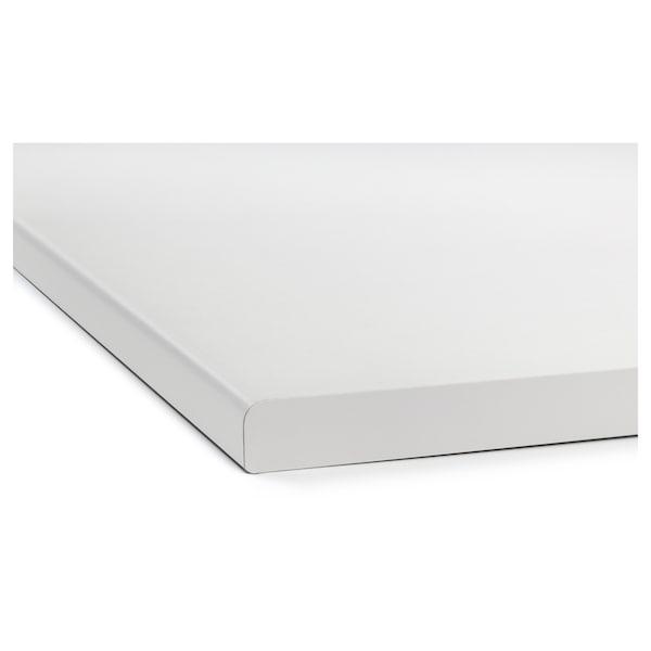LILLTRÄSK Piano di lavoro, bianco/laminato, 186x2.8 cm