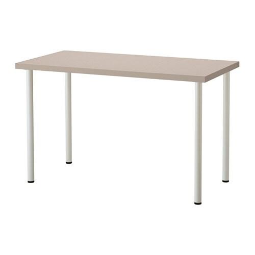 Linnmon adils tavolo geometrico beige bianco ikea for Ikea tavolo bianco