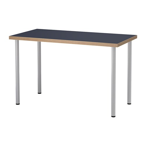 Linnmon adils tavolo blu color argento ikea - Piani tavolo ikea ...