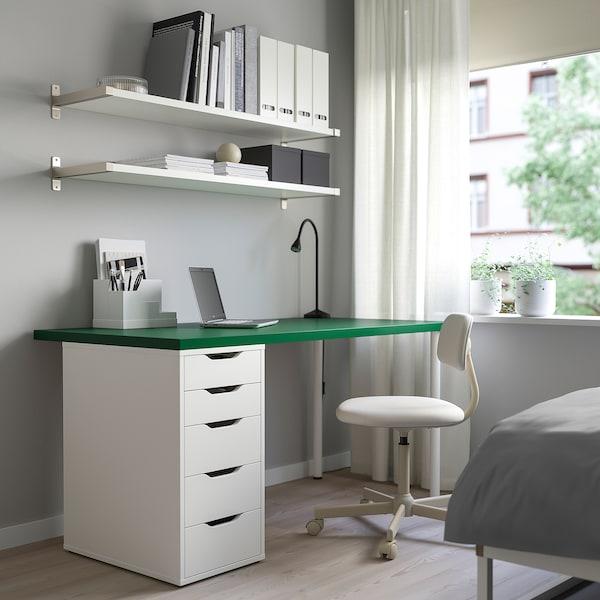 LINNMON / ALEX Tavolo, verde/bianco, 150x75 cm