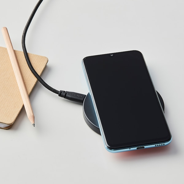 LIVBOJ Caricabatteria wireless, nero