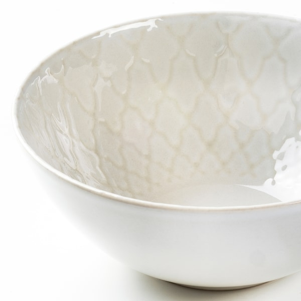 LJUVARE Ciotola, bianco sporco, 16 cm