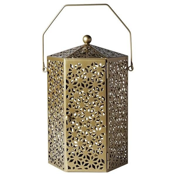 LJUVARE Lanterna per cero, color oro, 32 cm