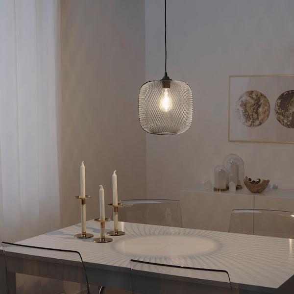 LUFTMASSA / HEMMA Lampada a sospensione, arrotondato/nero, 26 cm
