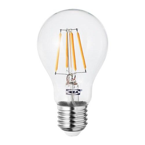 Lunnom lampadina led e27 600 lumen ikea - Lampadine a led ikea ...