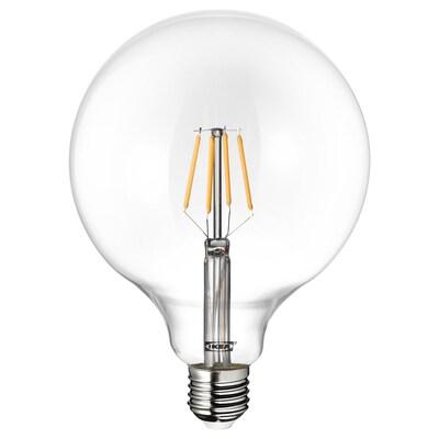 LUNNOM Lampadina LED E27 600 lumen, globo vetro trasparente, 125 mm
