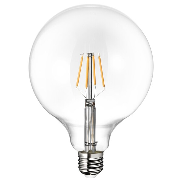 LUNNOM lampadina LED E27 600 lumen globo vetro trasparente 125 mm 5.5 W 600 lm