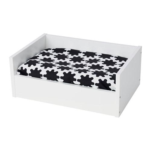 Lurvig Cuccia Con Cuscino Bianconero Bianco Ikea