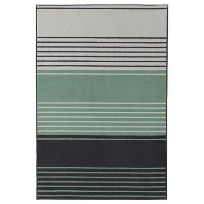 LUSTRUP Tappeto, pelo corto, grigio/fantasia, 120x180 cm