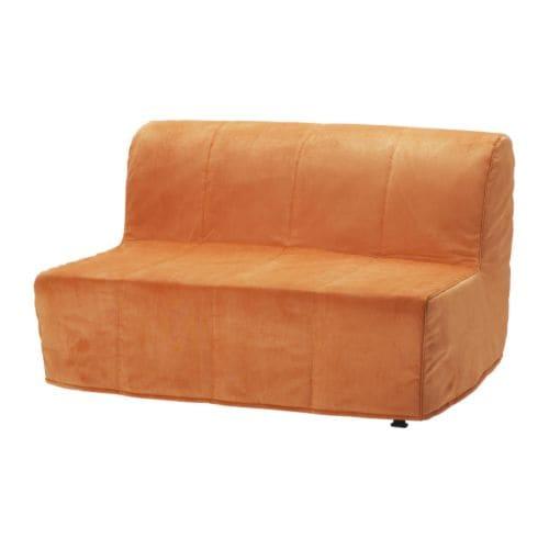 LYCKSELE MURBO Divano letto a 2 posti - Henån arancione - IKEA