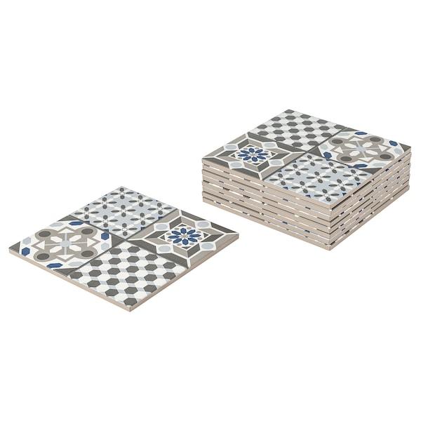 MÄLLSTEN parte superiore pavimento esterno blu/bianco 0.81 m² 30 cm 30 cm 12 mm 0.09 m² 9 pezzi