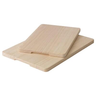 MAGASIN Set di 2 taglieri, legno dell'albero della gomma