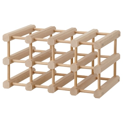 MAGNETISK Portabottiglie, 12 scomparti, legno massiccio