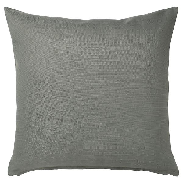 MAJBRÄKEN Fodera per cuscino, grigio-verde, 50x50 cm