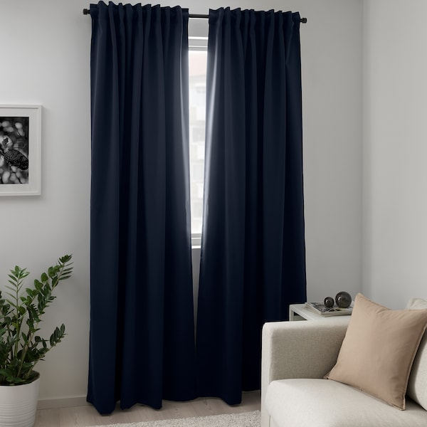 Majgull Tenda Oscurante 2 Teli Blu Scuro 145x300 Cm Ikea