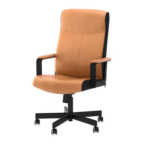 Malkolm sedia da ufficio bomstad marrone ikea for Sedia da ufficio ikea