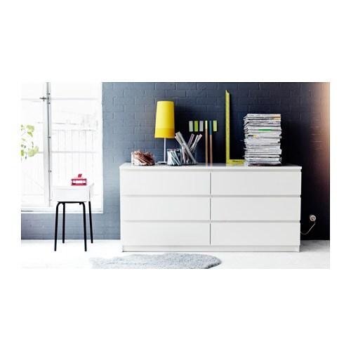 malm cassettiera con 6 cassetti - bianco - ikea - Cassettiera Malm Milano