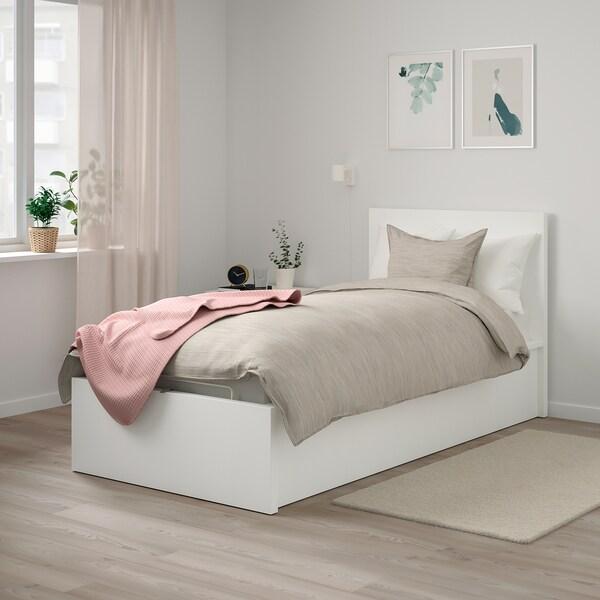 Malm Letto.Malm Struttura Letto Con Contenitore Bianco Ikea