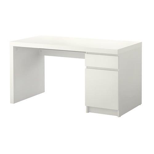 malm scrivania bianco ikea
