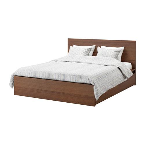 Malm struttura letto alta 4 contenitori 160x200 cm lur y mordente marrone impiallacciatura - Ikea letto malm ...