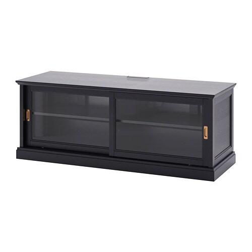 Sistema Ante Scorrevoli Ikea.Malsjo Mobile Tv Con Ante Scorrevoli Mordente Nero