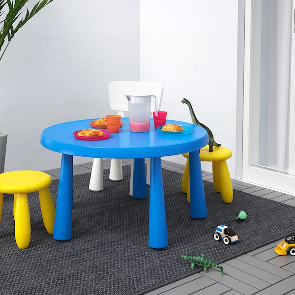 MAMMUT tavolo per bambini da interno/esterno blu 48 cm 85 cm