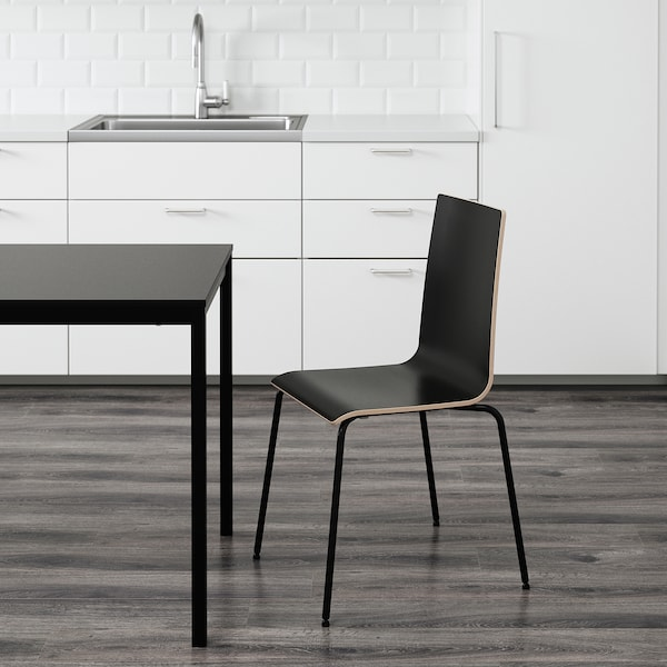 MARTIN sedia nero/nero 100 kg 49 cm 52 cm 86 cm 38 cm 38 cm 45 cm