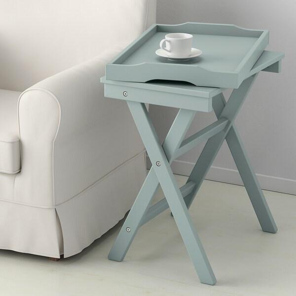 Tavolo Pieghevole Con Vassoio.Maryd Tavolino Vassoio Verde 58x38x58 Cm Ikea