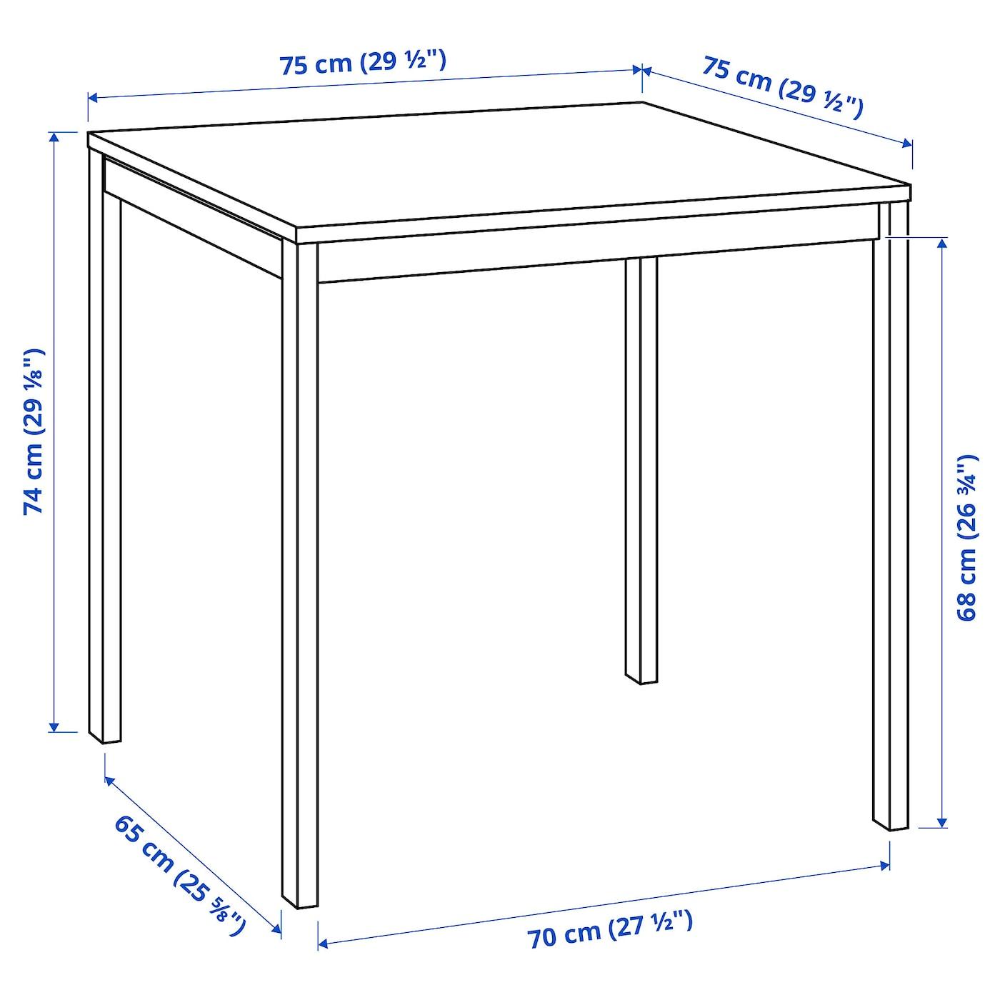 Melltorp Tavolo Bianco 75x75 Cm Ikea It