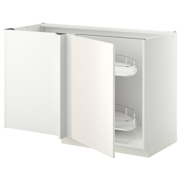 Mobile base angolare/cestello estr. METOD bianco, Veddinge bianco