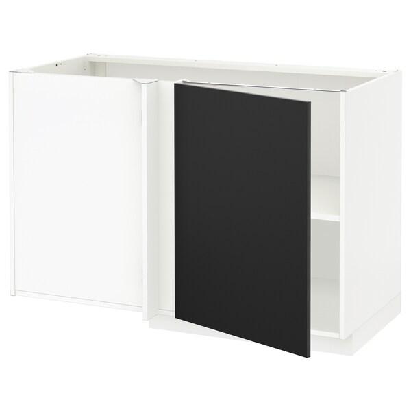 Mobile Basso Ad Angolo Ikea.Metod Mobile Base Angolare Con Ripiano Bianco Uddevalla