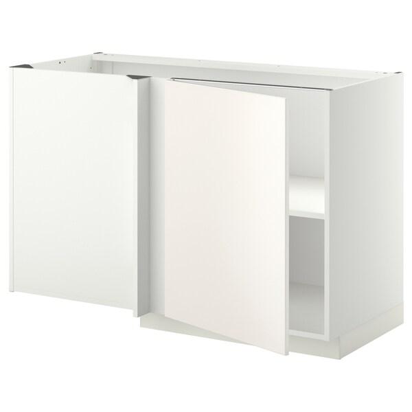Mobile base angolare con ripiano METOD bianco, Veddinge bianco