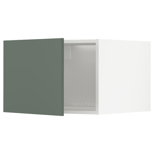 METOD Elemento top per frigo/congelatore, bianco/Bodarp grigio-verde, 60x40 cm