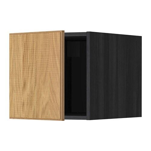 Metod elemento top effetto legno nero hyttan - Montare cucina ikea ...