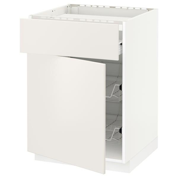 Mobile piano cottura/casset/2cestel METOD / FÖRVARA bianco, Veddinge bianco