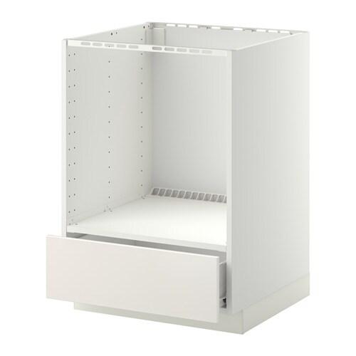 Metod f rvara mobile base per forno e cassetto bianco veddinge bianco ikea - Mobile da incasso forno ikea ...